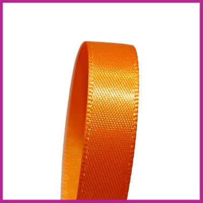Satijnlint 10 mm oranje per meter