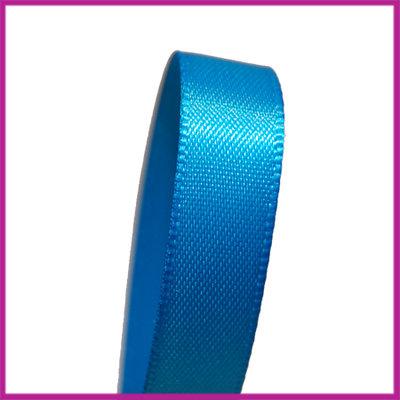Satijnlint 10 mm blauw per meter