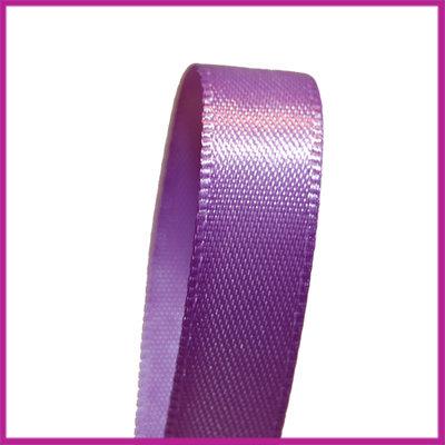 Satijnlint 10 mm paars per meter