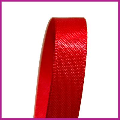 Satijnlint 10 mm rood per meter