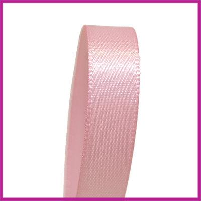 Satijnlint 10 mm licht roze per meter