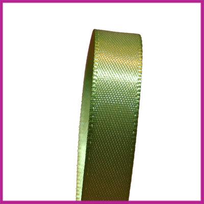 Satijnlint 10 mm mosgroen per meter