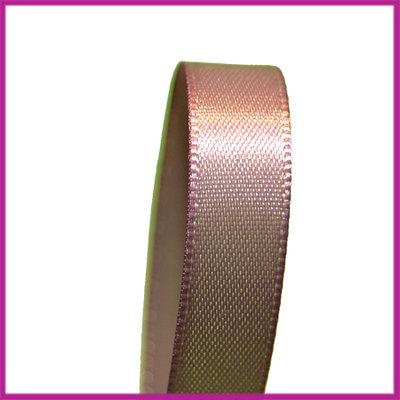 Satijnlint 10 mm moccabruin per meter