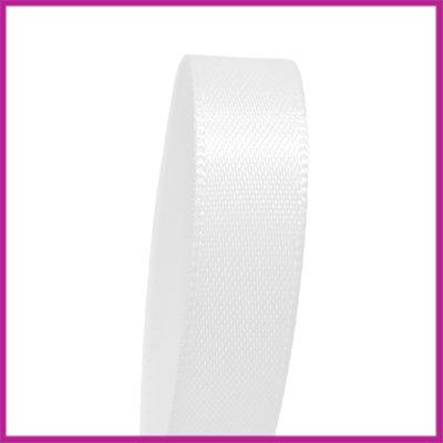 Satijnlint 10 mm wit per meter per meter