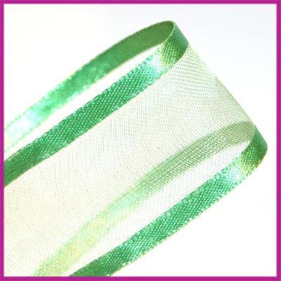 Organza lint 26 mm groen per meter