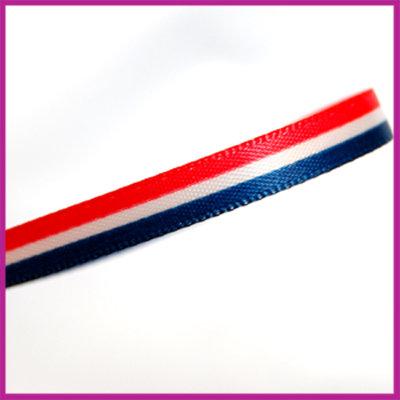 Lint 7mm Hollandse vlag per meter