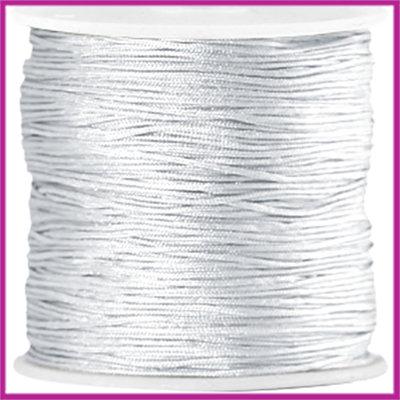 Macramé satijndraad draad ø0,8mm Zilver grijs per meter