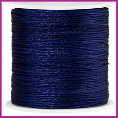 Macramé satijndraad draad ø0,8mm Midnight blue per meter