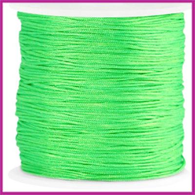 Macramé satijndraad draad ø0,8mm Bright green per meter