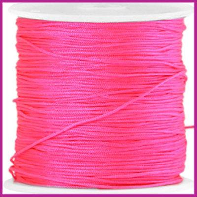 Macramé satijndraad draad ø0,8mm Neon pink per meter