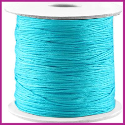 Macramé satijndraad draad ø0,7mm Cyaan blue per meter