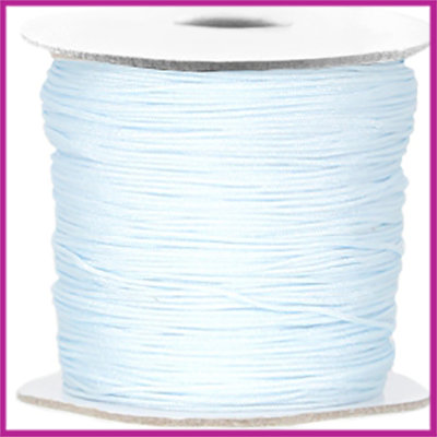 Macramé satijndraad draad ø0,7mm Light blue per meter