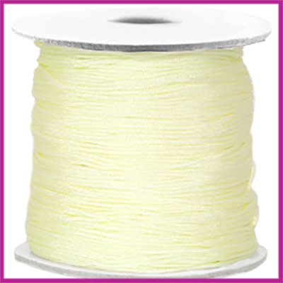 Macramé satijndraad draad ø0,7mm Light citrine yellow per meter