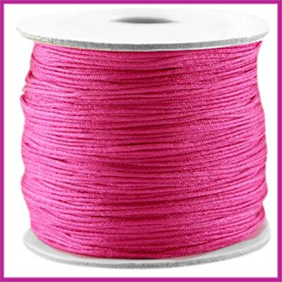Macramé satijndraad draad ø0,7mm hot pink per meter