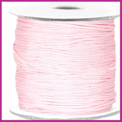 Macramé satijndraad draad ø0,7mm Light pink per meter
