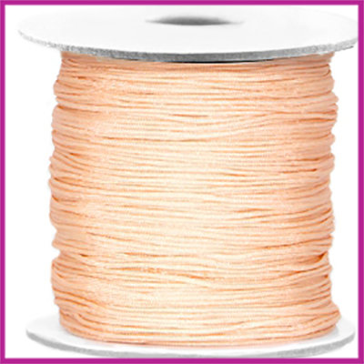 Macramé satijndraad draad ø0,7mm Light peach per meter