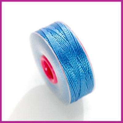 Kralendraad (Silky) 37 meter, 0,2mm Blauw