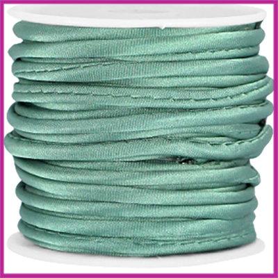 Wrap satijnkoord ca. 3mm Turmaline green per 20cm