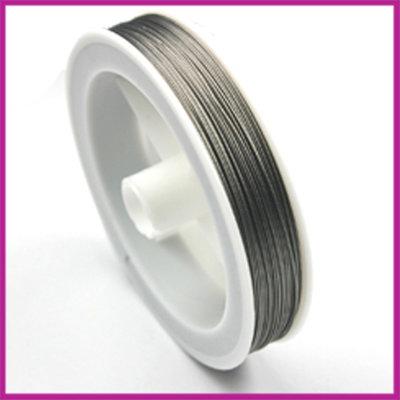 Rol staaldraad nikkelkleur Ø0,45mm