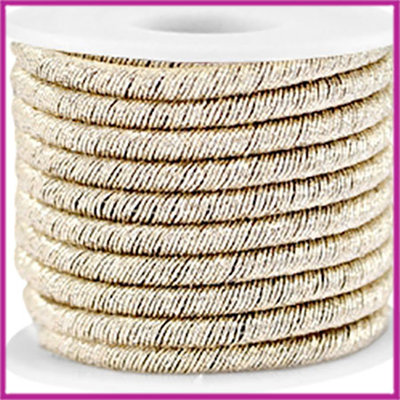 Trendy koord metallic 5mm champagne gold per 20cm