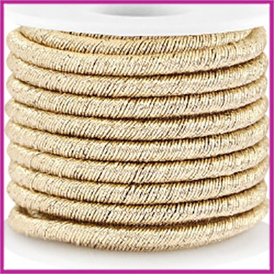 Trendy koord metallic 5mm gold per 20cm