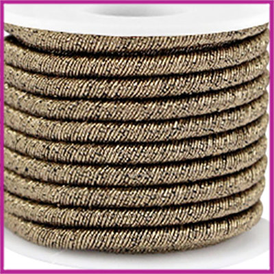 Trendy koord metallic 5mm dark gold per 20cm