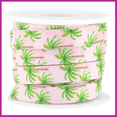 Trendy plat koord 10mm licht rose palmboom per 10cm