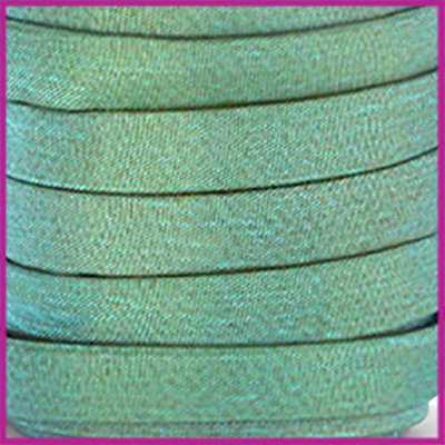 Trendy Jean-Jean glansstof koord plat 10mm Dark sea green per 20cm