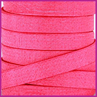 Trendy Jean-Jean glansstof koord plat 10mm Fuchsia per 20cm
