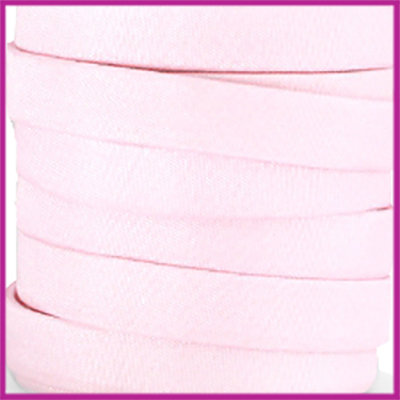 Trendy Jean-Jean glansstof koord plat 10mm Soft pink per 20cm