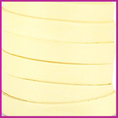 Trendy Jean-Jean glansstof koord plat 10mm Summer yellow per 20cm
