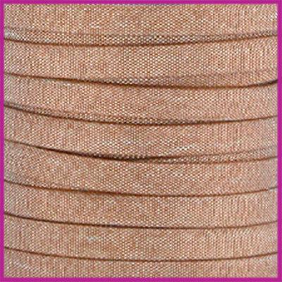 Trendy Jean-Jean glansstof koord plat 5mm Greige silver per 20cm