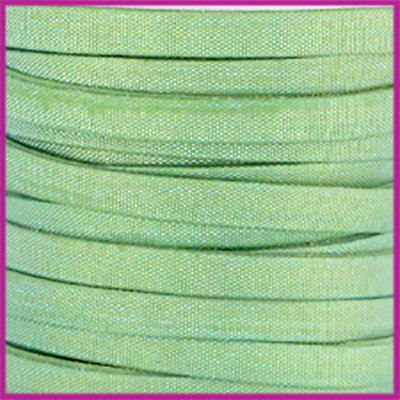 Trendy Jean-Jean glansstof koord plat 5mm Chrysolite green per 20cm