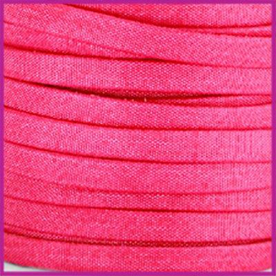 Trendy Jean-Jean glansstof koord plat 5mm Fuchsia per 20cm