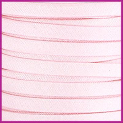 Trendy Jean-Jean glansstof koord plat 5mm Soft pink per 20cm