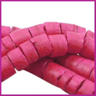 Kokos disc kraal ca. 6mm Raspberry rose