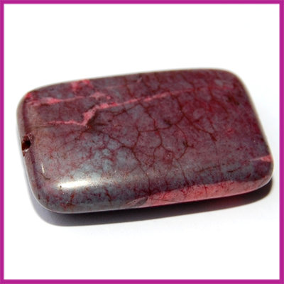 Natuursteen aubergine rechthoek XL 30x20 mm