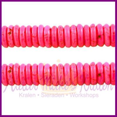 Natuursteen kraal hard roze 3x9mm