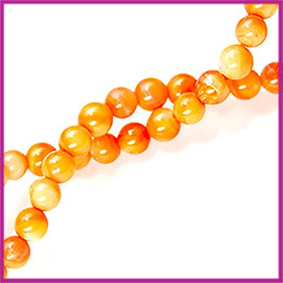 Schelp kraal rond 5mm Oranje