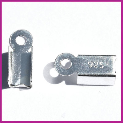 Sterling zilver 925 veterklem 10x4mm