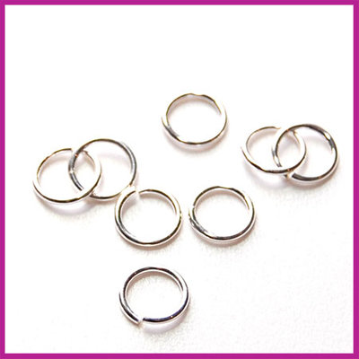 Sterling zilver 925 open ring ø5mm (0,6mm dik)