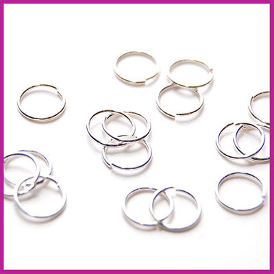 Sterling zilver 925 open ring ø8mm (0,7mm dik)