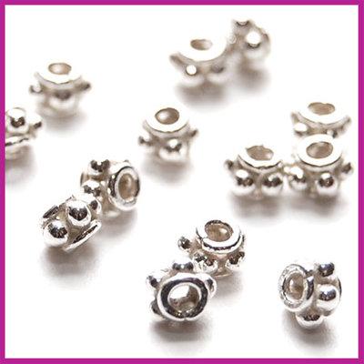Sterling zilver 925 tussenkraal 3,5x2,5mm glanzend