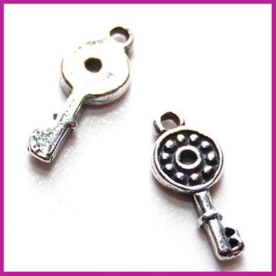 Sterling zilver 925 bedel sleuteltje 5x11,5mm antiek