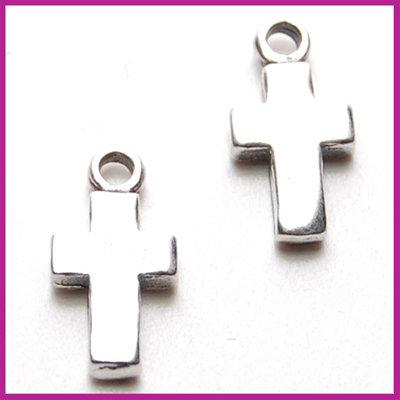 Sterling zilver 925 bedel kruisje 14x7mm antiek