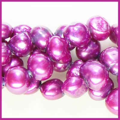 Zoetwaterparel barok ca. 6 - 7 mm diep fuchsia paars
