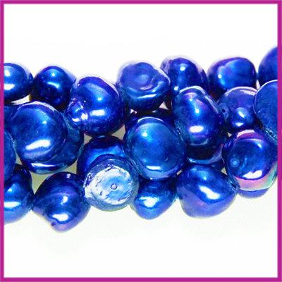 Zoetwaterparel barok ca. 6 - 7 mm diep navy blauw