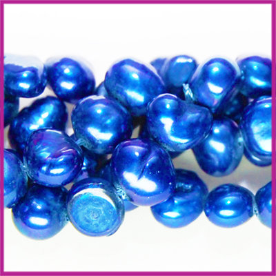 Zoetwaterparel barok ca. 6 - 7 mm Hollands blauw