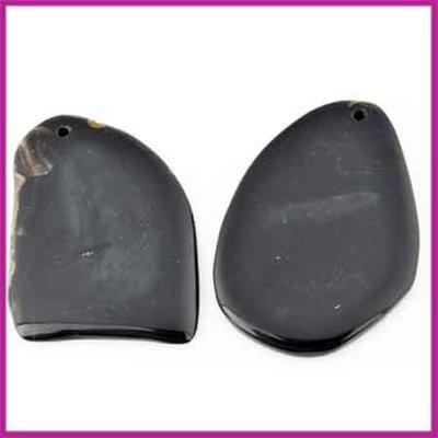 Agaat hanger onregelmatig Zwart