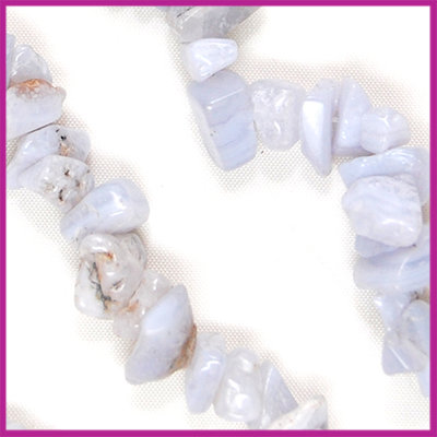 Chips 5-8mm Blue Lace Bead
